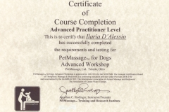 PETMASSAGE ADVANCED PRACTITIONER LEVEL CERTIFICATE
