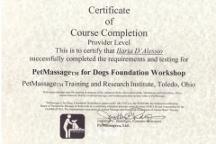 PETMASSAGE FOUNDATION COURSE CERTIFICATE